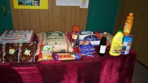 توزيع 265 سلة غذائية في اليوم الأول