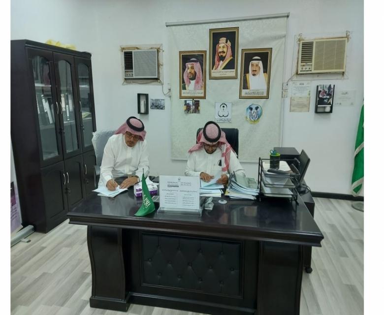 الأستاذ عبدالله القرني في زيارة للجمعية لتقييم الحوكمة