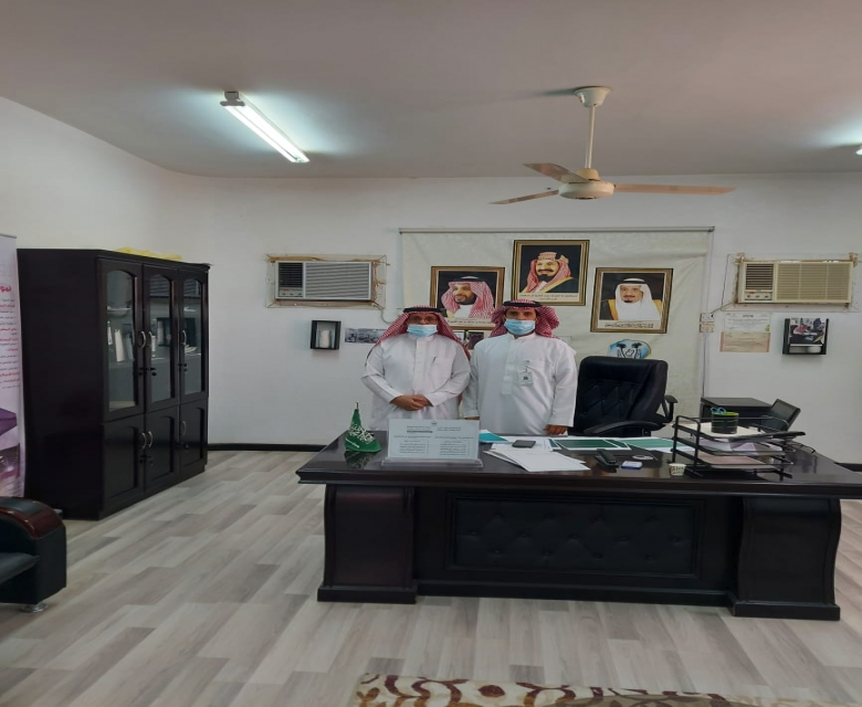 عبدالرحمن الشهراني في زيارة دورية للجمعية